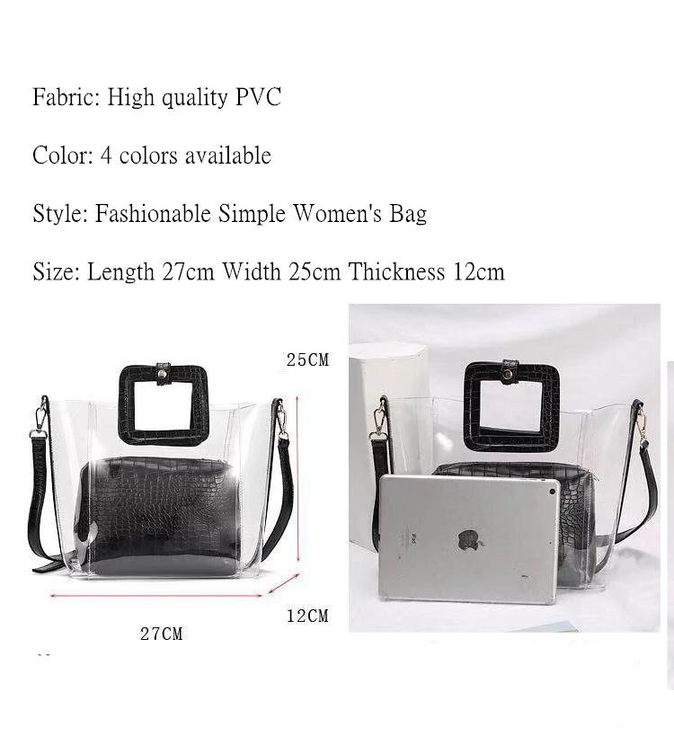 PVC Transparent Lady Handbag and Purse